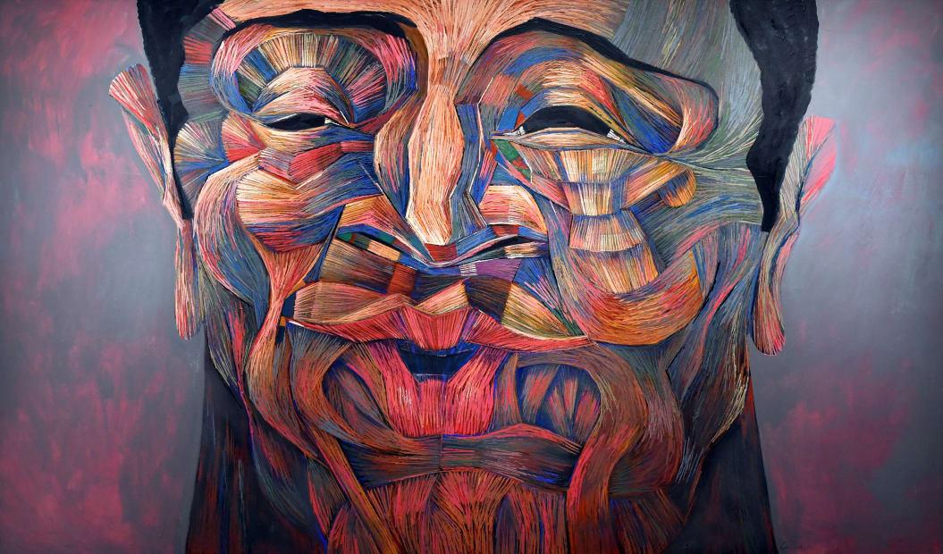 Fadi Daoud Sentimental, 2018 Acrylic on canvas 140 x 240cm
