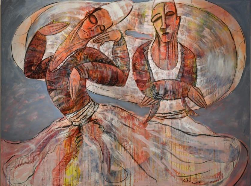 Fadi Daoud Dervish, 2018 Acrylic on canvas 145 x 195cm