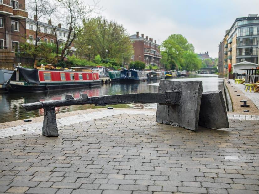 View Geoffrey Clarke's Battersea II installed on Pangolin London's Sculpture Trail.