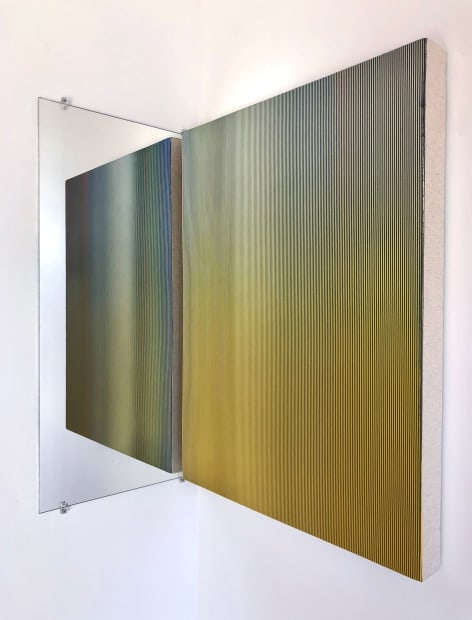 Adrien Couvrat Lyre(retable n°3) 2020 acrylic on canvas 31.50 x 23.62 in