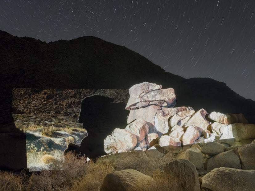 Philipp Scholz Rittermann Boulder Profile, Indian Gorge, Julian, CA, USA, 2018 archival inkjet mounted to Dibond 34x44in