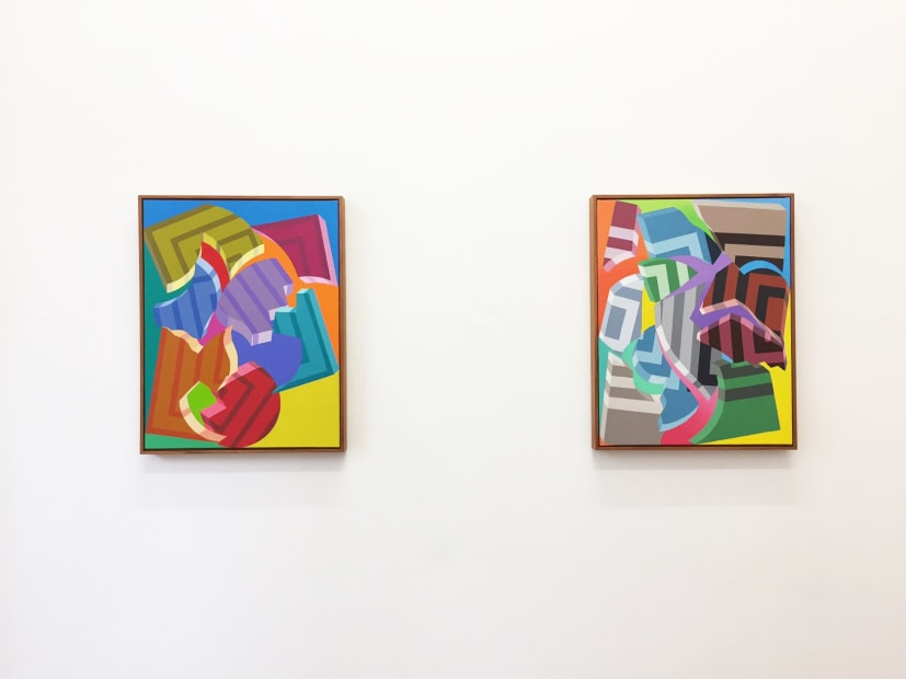 Bryan Spier, Divided Paintings, 2017 installation view