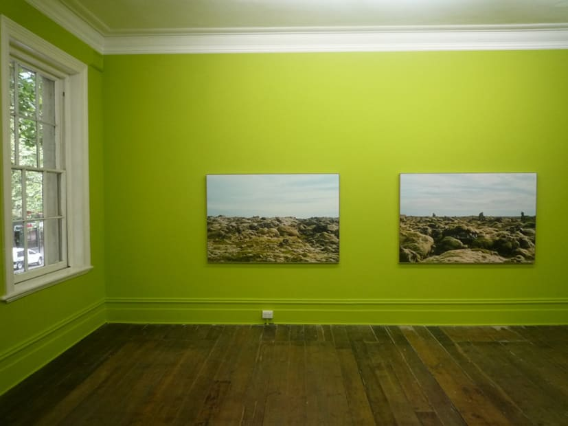 Sanja Pahoki, To The Centre of The Earth and Back (Iceland), 2012 Installation view