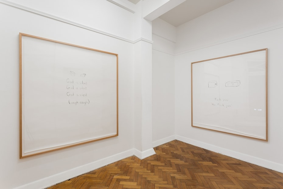 "Kiron Robinson,""ummm... no"",2017 Installation view Photo: Christo Crocker"
