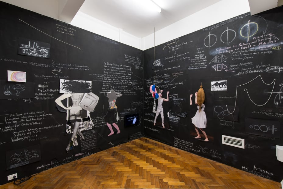 Sally Smart, The Choreography of Cutting (The Pedagogical Puppet Projects), 2017 Installation view Photo: Aaron Rees