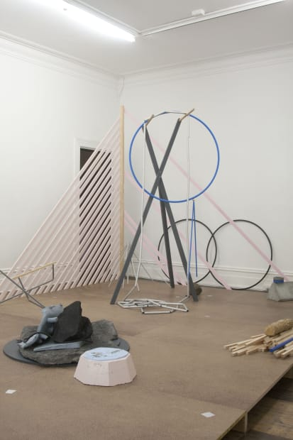 Bianca Hester, these circumstances: temporarily generating forms, improvising encounters, 2011 Installation view Photo: Kelly Schmidt
