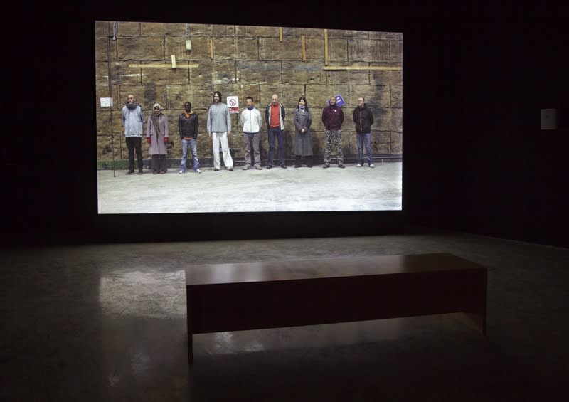 Gillian wearing video installation