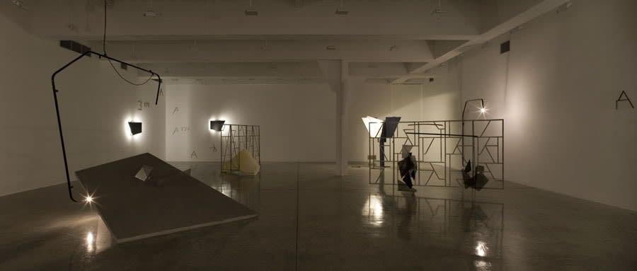Boyce installation image at TBG NY, chimney sculptures