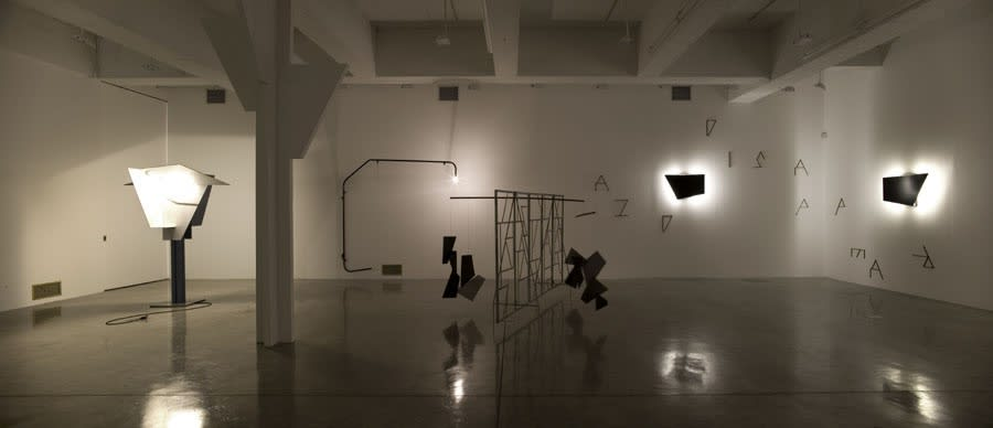 Boyce installation image at TBG NY, wall mounted sculptures