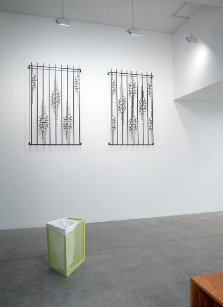 Boyce installation image at TBG NY, wall sculptures
