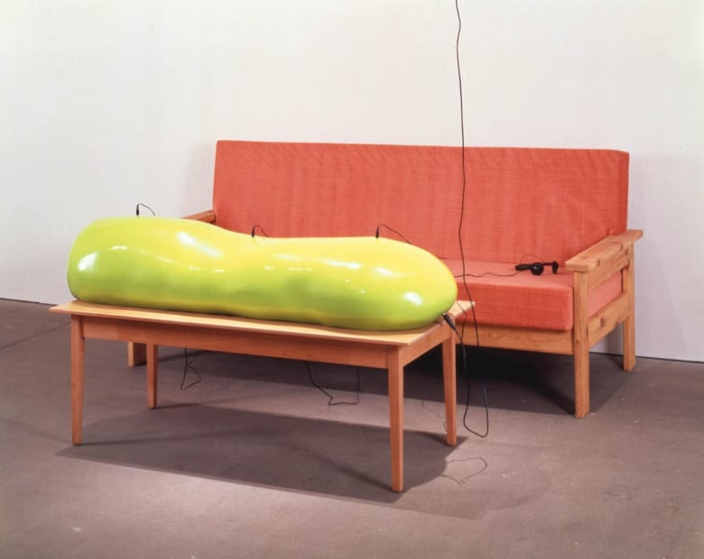 Charles Long installation view at TBG, sculptures with stereo lab