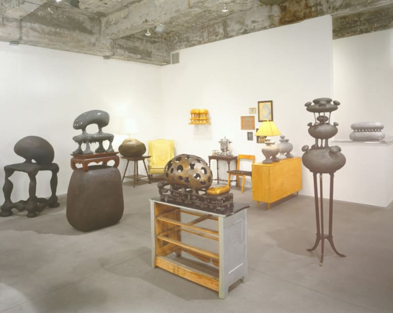 Charles Long installation view at TBG, collection of sculptures