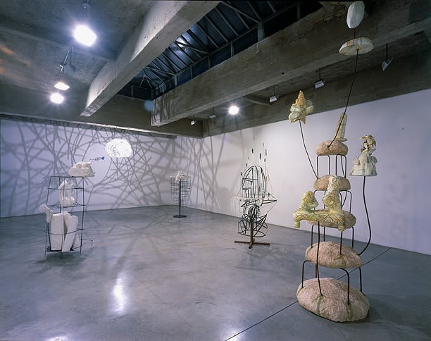Charles Long installation view at TBG, sculptures
