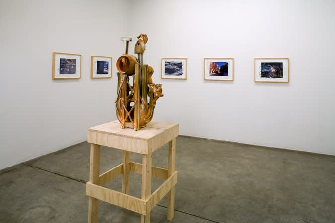 Charles Long installation view at TBG, ceramic sculptures