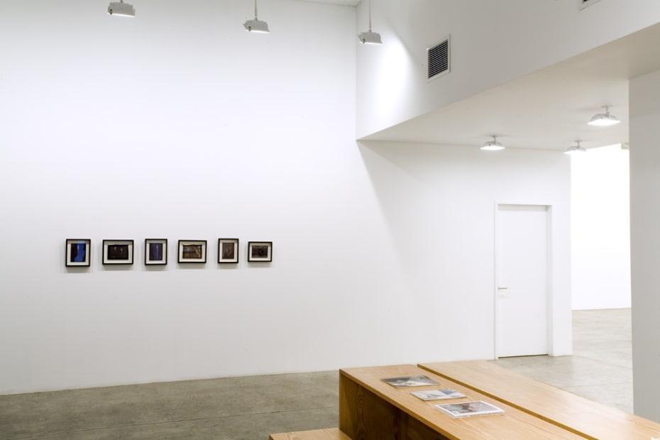 Charles Long installation view at TBG, bird shit photographs