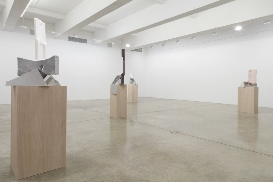 Charles Long installation view at TBG, sculptures on pedestals