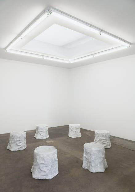 Charles Long installation view at TBG, stump circle