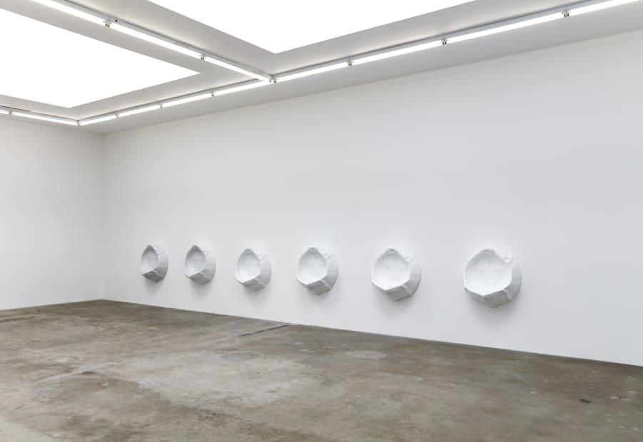 Charles Long installation view at TBG, urinals