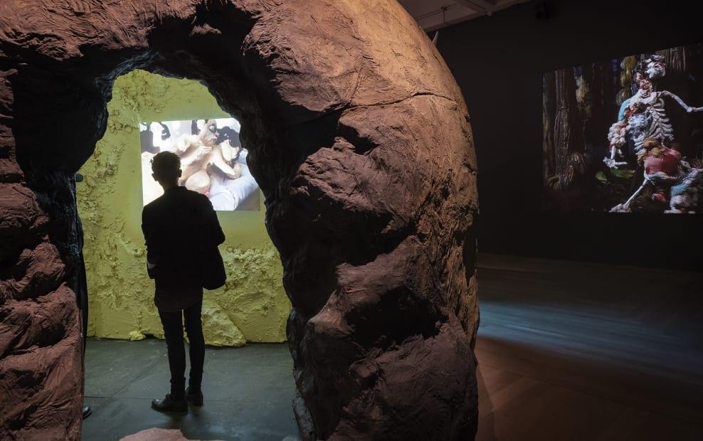 Djurberg & Berg video installation and potato