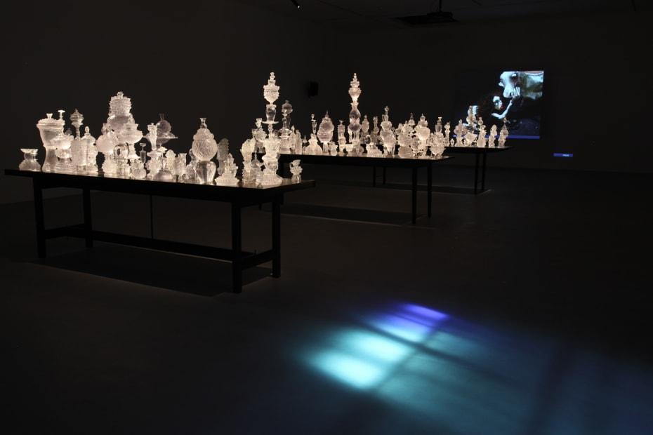 Djurberg & Berg glass sculptures and video installation