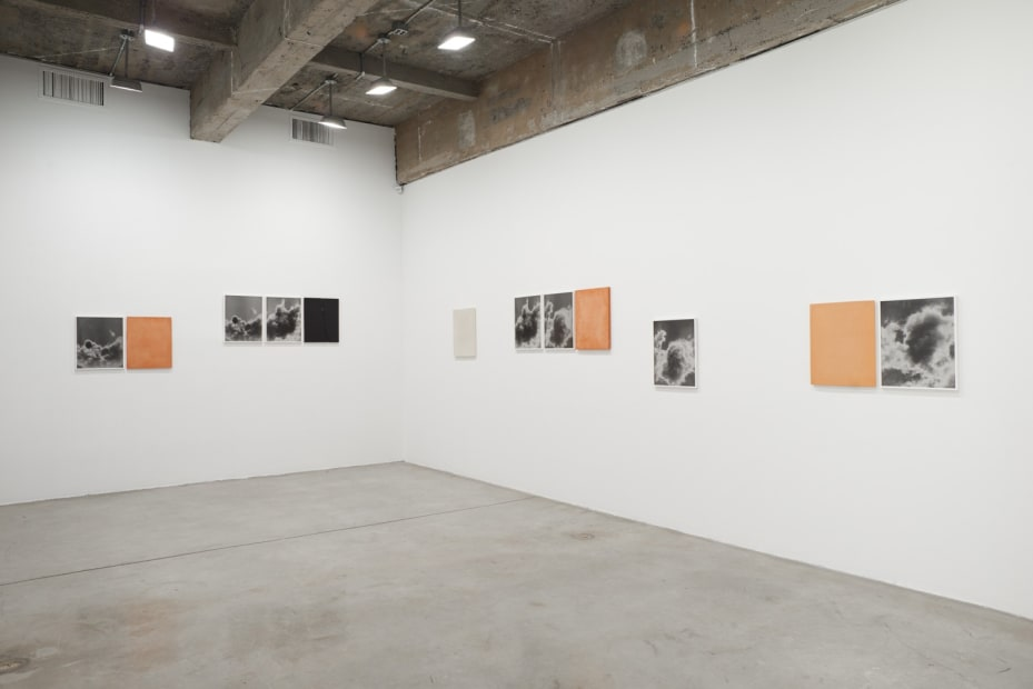Lisa Oppenheim installation view, smoke photographs