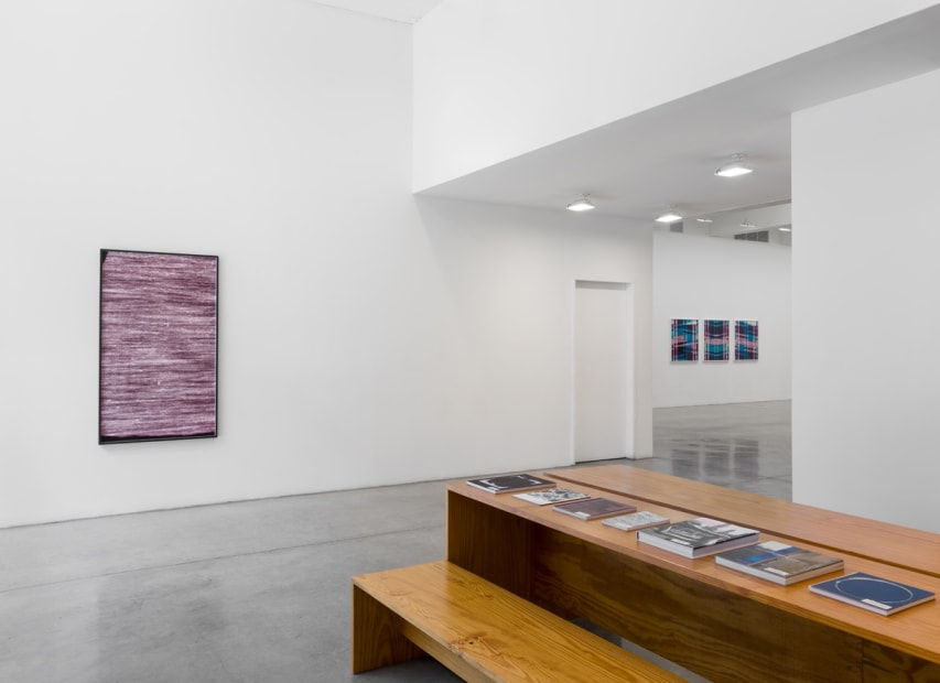 Lisa Oppenheim installation view, weaves