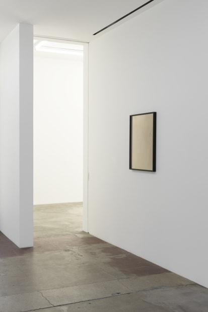 Installation view of Lisa Oppenheim, celluoids in hallways