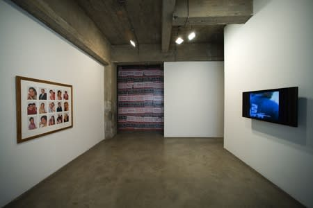 installation view of Phil Collins, photographs