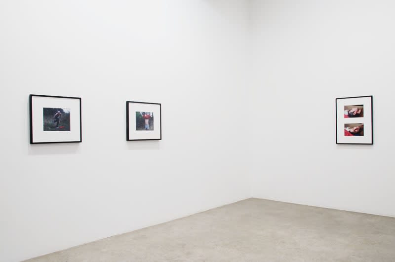 Phil Collins installation view, photograph