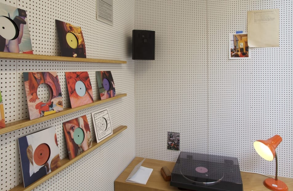 Phil Collins record player booth installation
