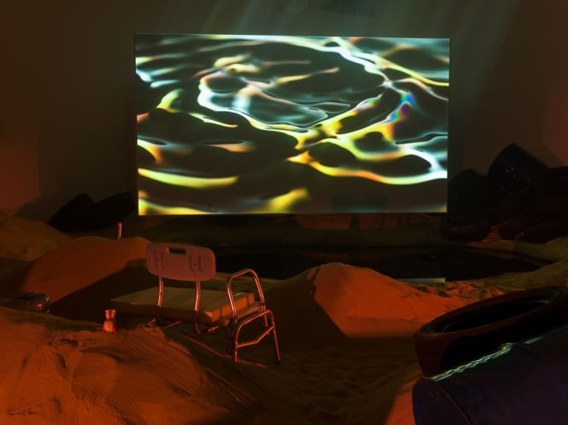 Phil Collins, installation view from Delete Beach