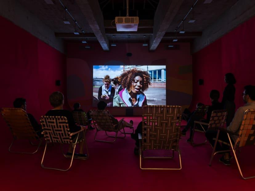 Phil Collins, video installation at TBG
