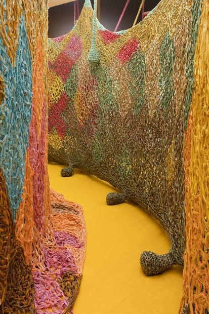 Crochet installation at TBG