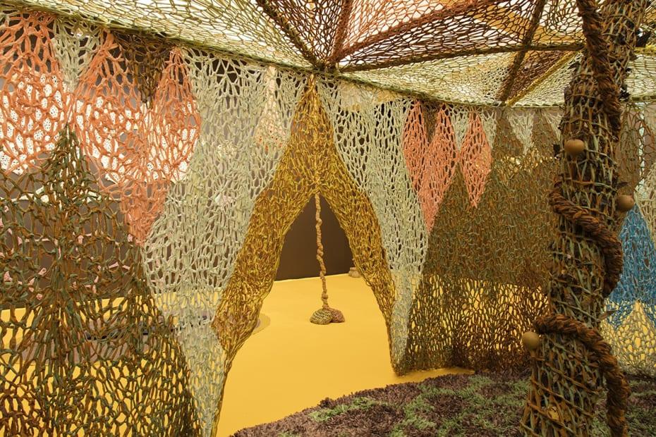 Ernesto Neto installation with crochet