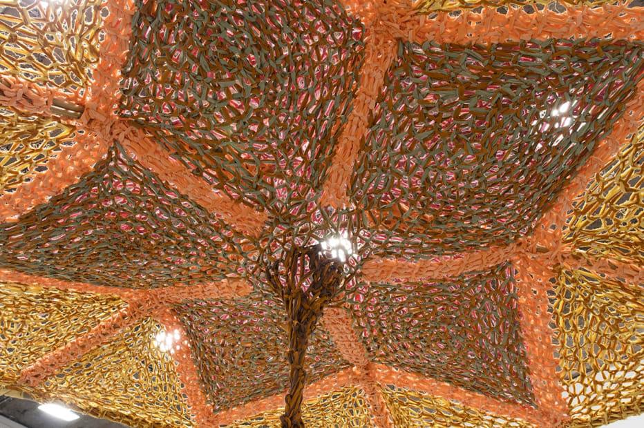 Ernesto Neto installation with crochet roof