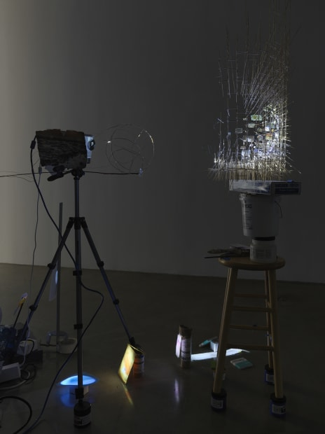 Sarah Sze, installation view of video projections