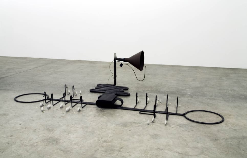 image of Manders sculpture, installation at TBG
