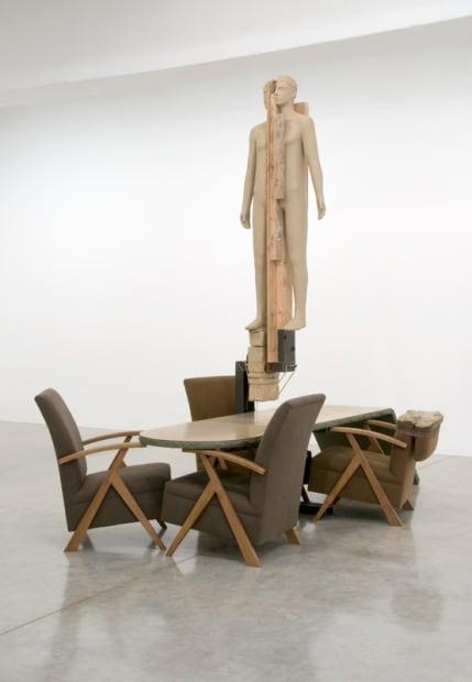 image of Manders sculpture, installation at TBG
