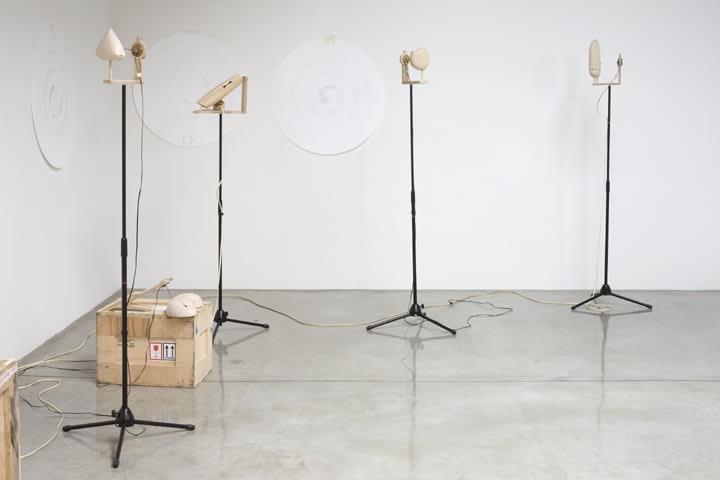installation view of Eliasson interactive sculpture