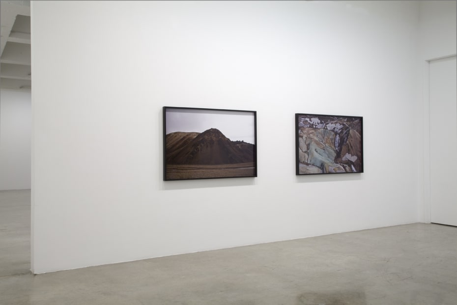 image of installation view of Eliasson Icelandic photographs