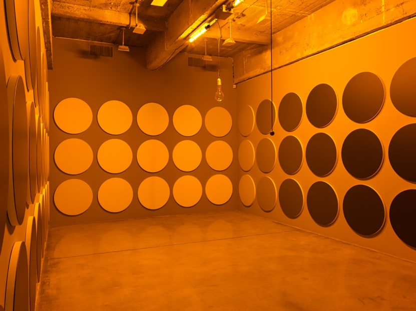 Image of Eliasson, monochrome room installation