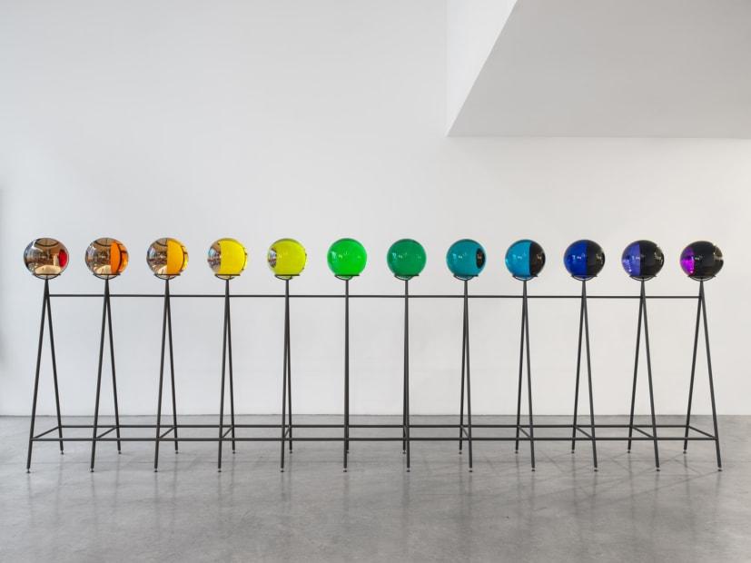 Image of Eliasson, rainbow crystal spheres