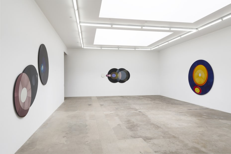 image of eliasson, mirrored wall mounted sculptures len flares