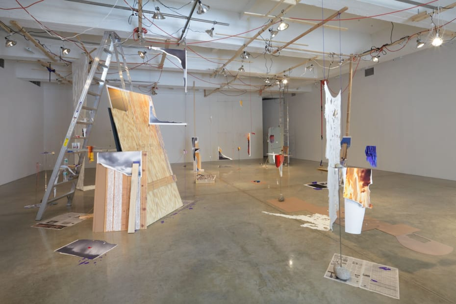 Sarah Sze, studio installation, downstairs, TBG gallery