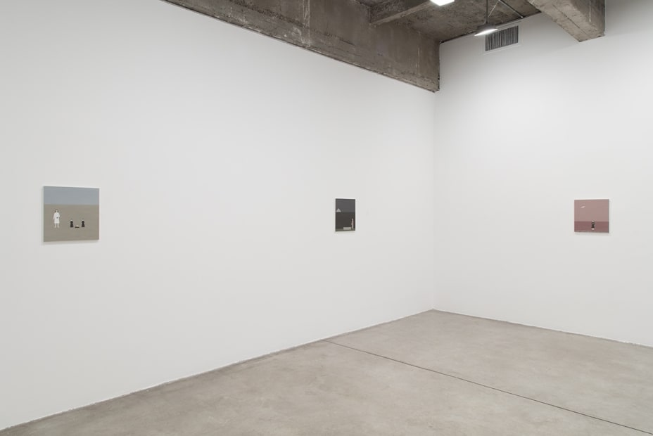 Installation view of Rita Lundqvist small paintings