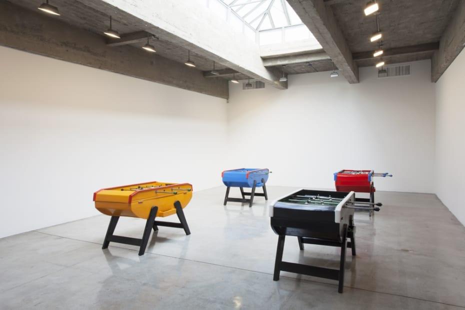 image of Gaba pool table painted like flag