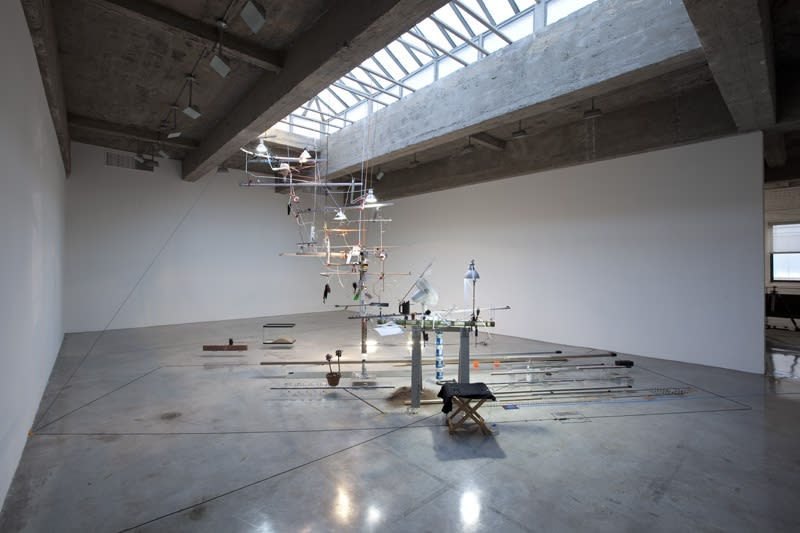 Sarah Sze installation upstairs at TBG
