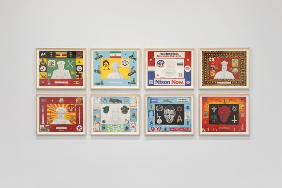 Jeffrey Vallance installation image of gallery show