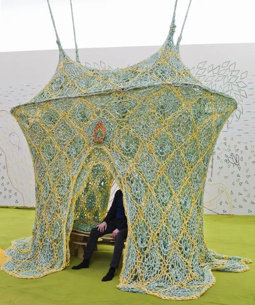 Ernesto Neto crochet room