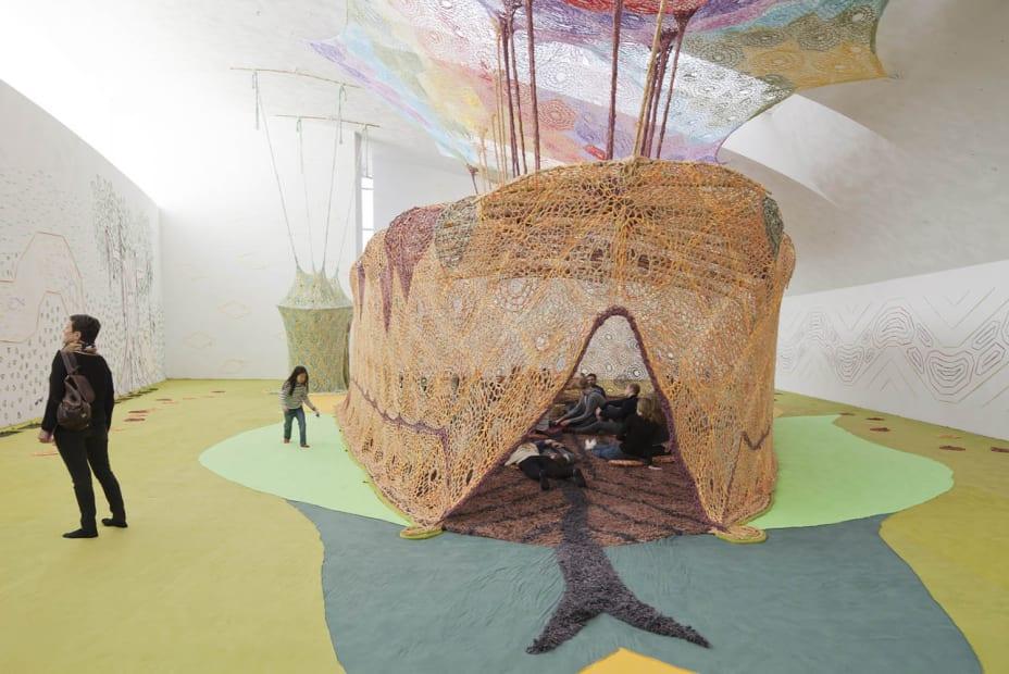 Ernesto Neto crochet installation